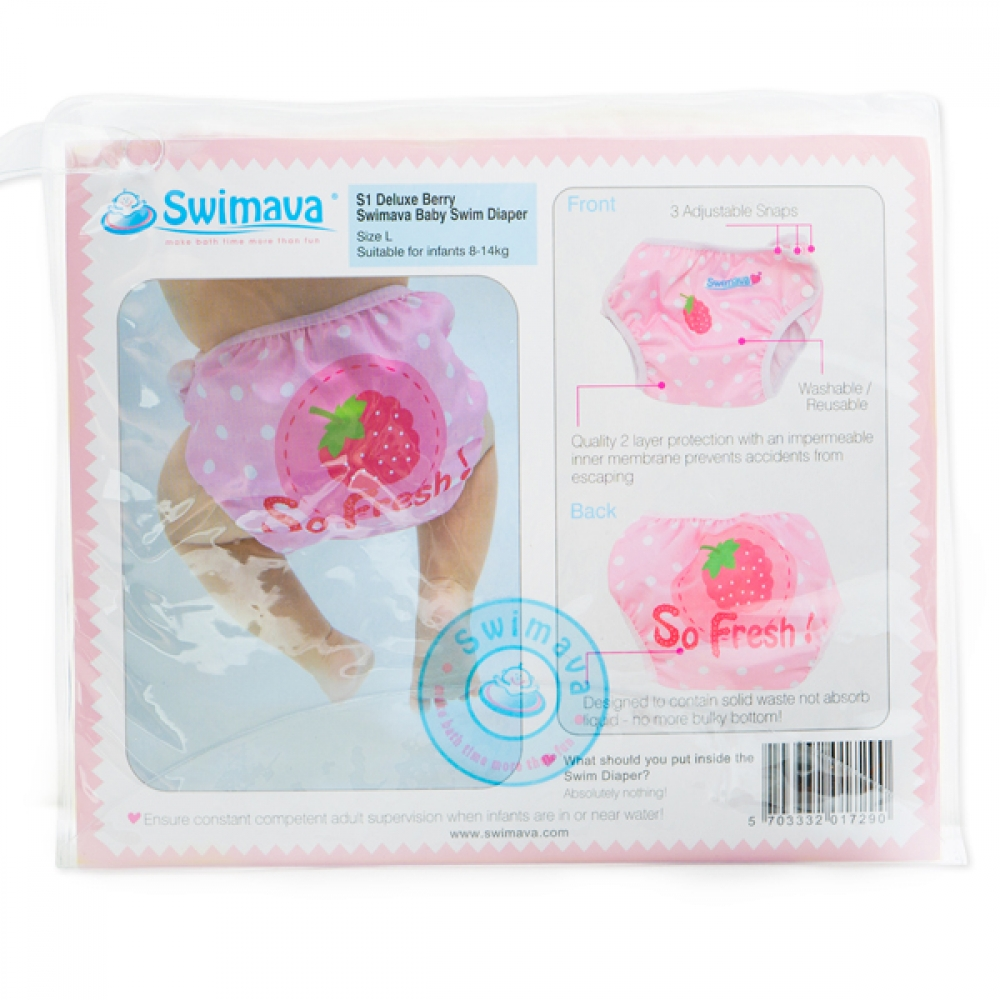 S1 Deluxe Berry Swimava Diaper