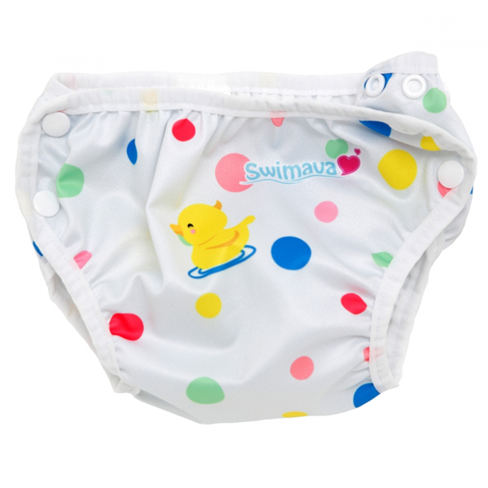 S1 Deluxe Polka Dot Swimava Diaper