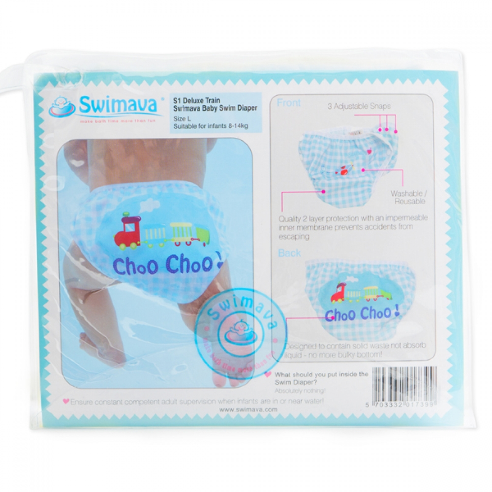 S1 Deluxe Train Swimava Diaper